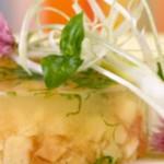 Secondo piatto: aspic di verdure e pollo