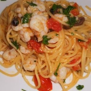 spaghetti con gli scampi