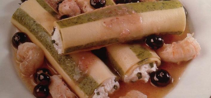 cannelloni di pasta bicolore
