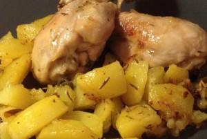 Cosce-pollo al limone
