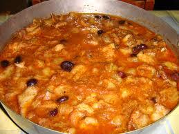 baccala in salsa di vongole e olive