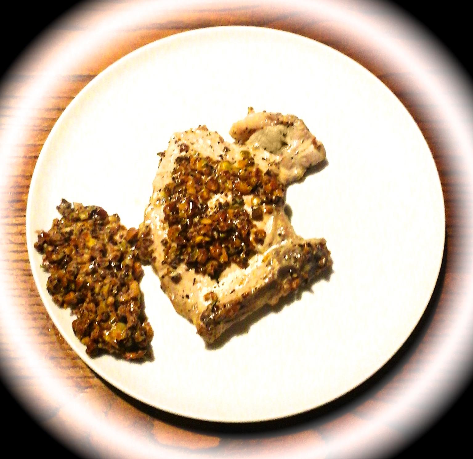 bistecca al pistacchio e zenzero