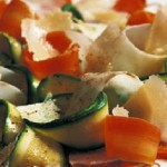 Antipasto vegetariano: carpaccio vegetale
