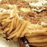 Dessert: Mont Blanc al bicchiere