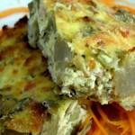 Piatto unico vegetariano: sformato di carciofi