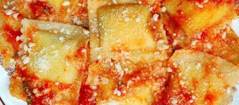 Primo piatto: pasticcio di ravioli
