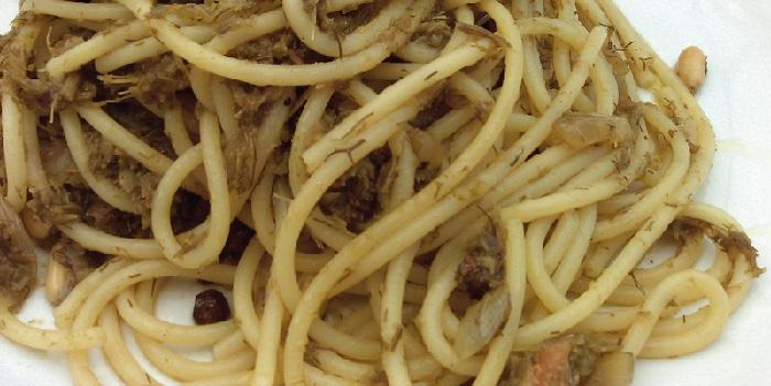 Primo piatto: vermicelli dorati ai carciofi