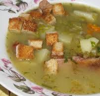 zuppa piselli e pollo
