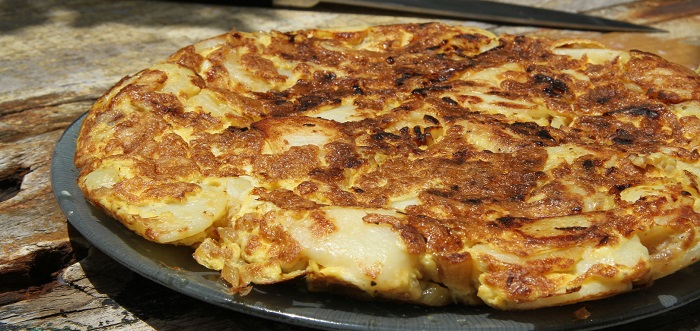 omelette alla polpa di granchio