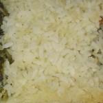 Primo piatto: riso tricolore in crosta