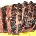 Secondo piatto: Tagliata in salsa di porcini
