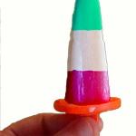 Ghiacciolo tricolore fatto in casa